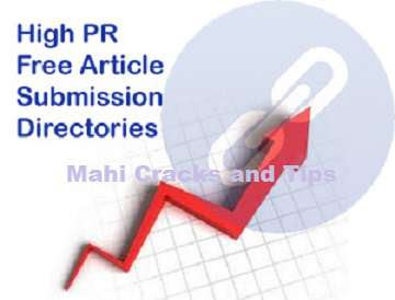 Free Article Submission Websites List high Page rank 2013 photo