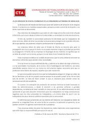 A LOS SERVICIOS DE AYUDA A DOMICILIO DE LA COMUNIDAD AUTONOMA DE ANDALUCIA