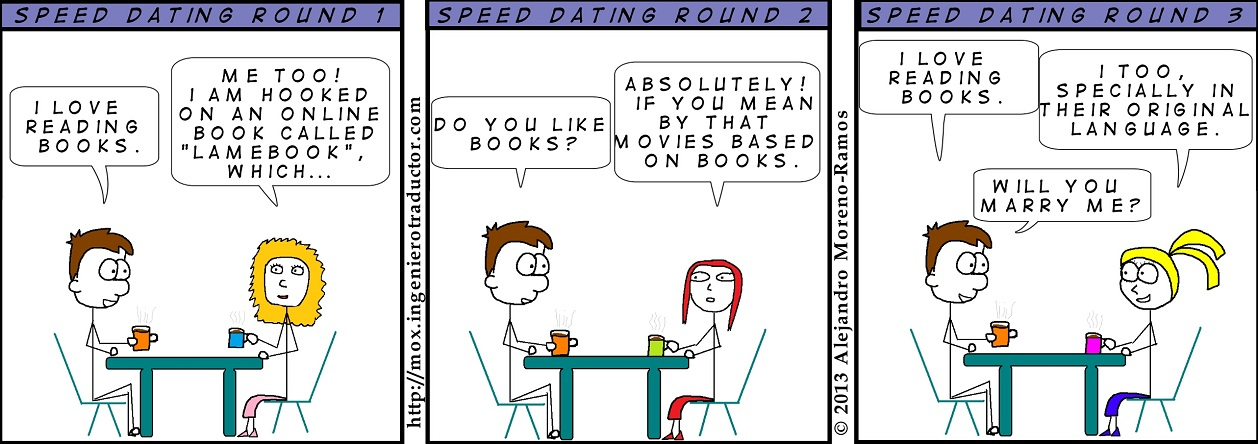 cartoon speed dating translator