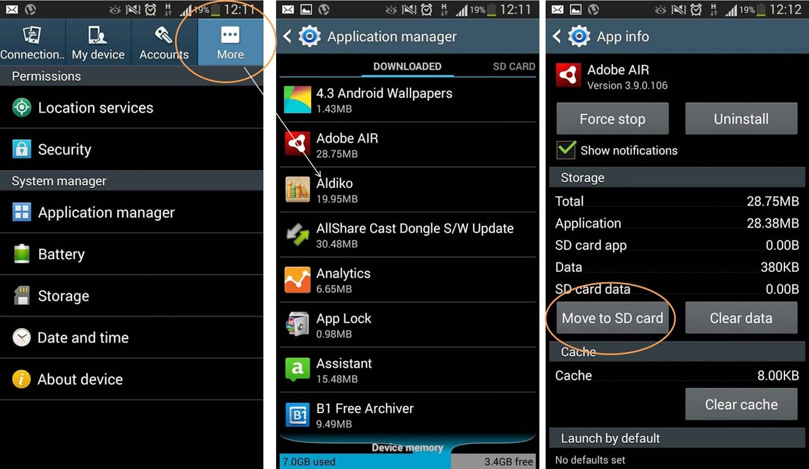 How to Use Move to SD card feature on NOTE 2 Android 4.3