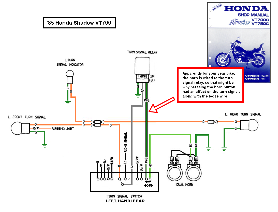 2011 honda shadow turn signal wiring wire management \u0026 wiring diagram Farmall Cub Voltage Regulator Wiring Diagram