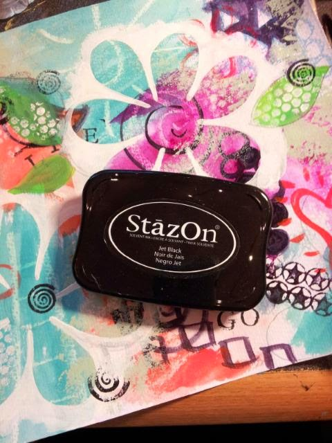 Who loves the smell of Stazon Stamping Pads, other than ME??  Post on Sue Allemand Art Blog,