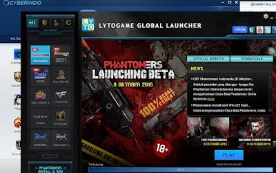 Solusi Diskless Cyberindo Munculkan Tombol Play Phantomers Online di Launcher Lytogame