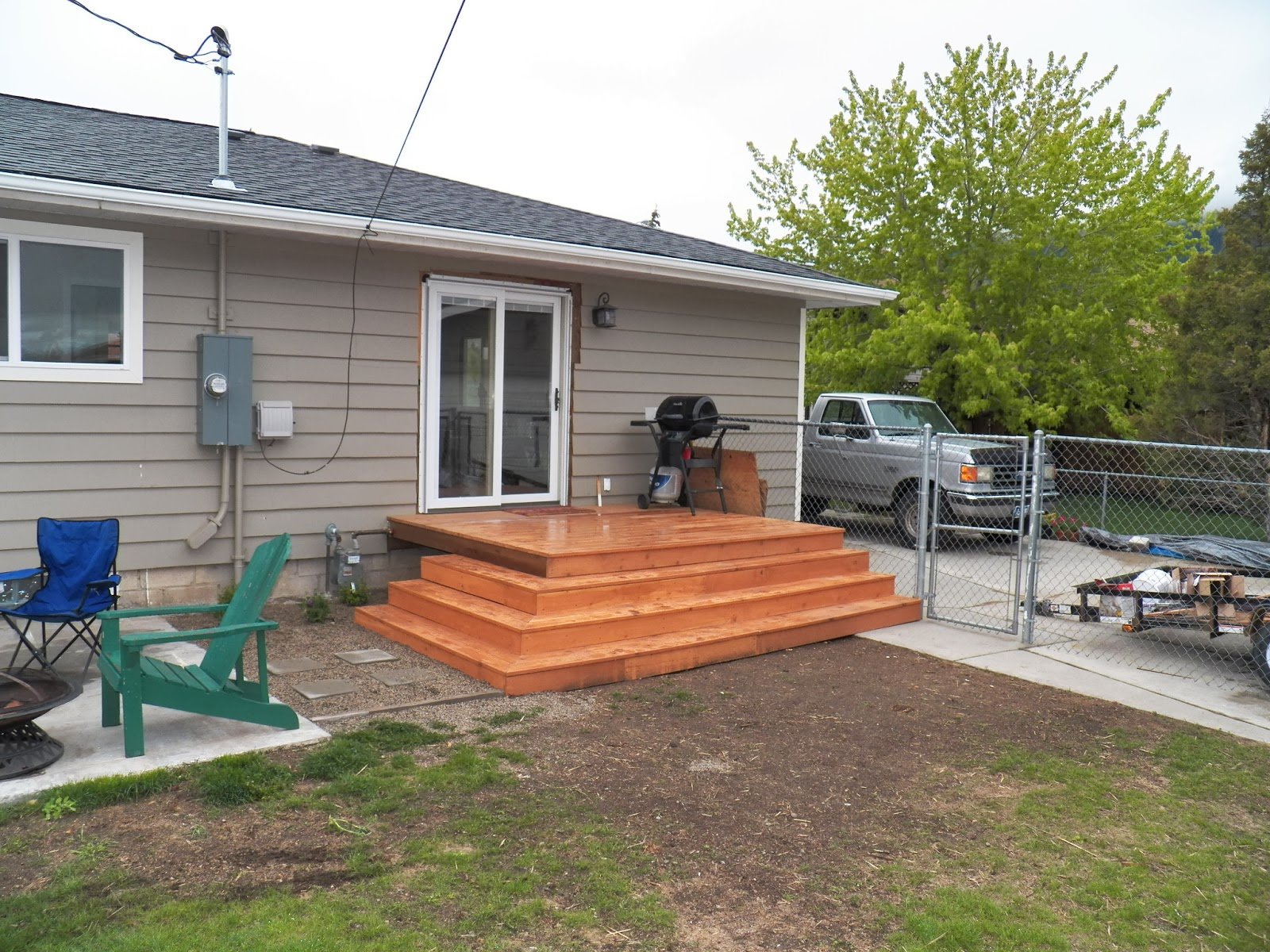 The back deck for Front entry decks