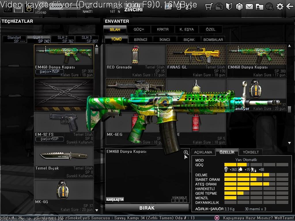 LdpMmo Wolfteam Silah Oyu Hile Kodları Yeni