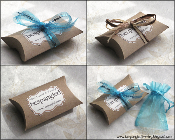 Bespangled Jewelry: My New Handmade Packaging!