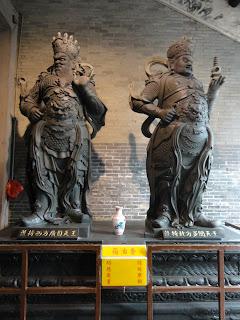 Weito y Zuyong en el templo de Lin Fung, Macao