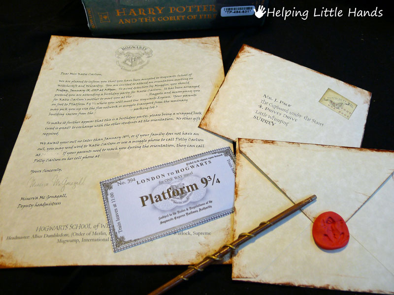 Pieces by polly printable hogwarts acceptance letters or harry i found printable hogwarts express tickets here i ended up giving mine to the kids as soon as the party started but i wish id thought to put them in spiritdancerdesigns Choice Image