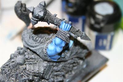 Mitad derecha de Grasientus Dientetoro con los azules terminados