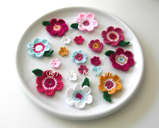 Crochet Flowers Applique