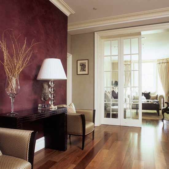 Burgundy Accent Wall Color