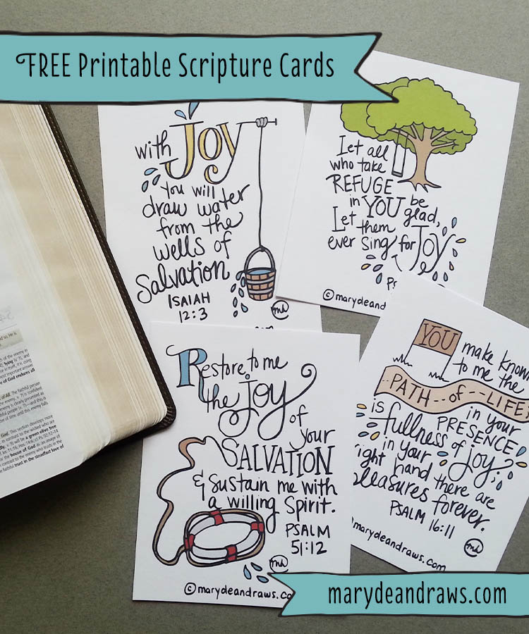 graphic about Free Printable Bible Verses Handwriting named The Contentment useful resource + Cost-free printable Scripture playing cards - Marydean Attracts