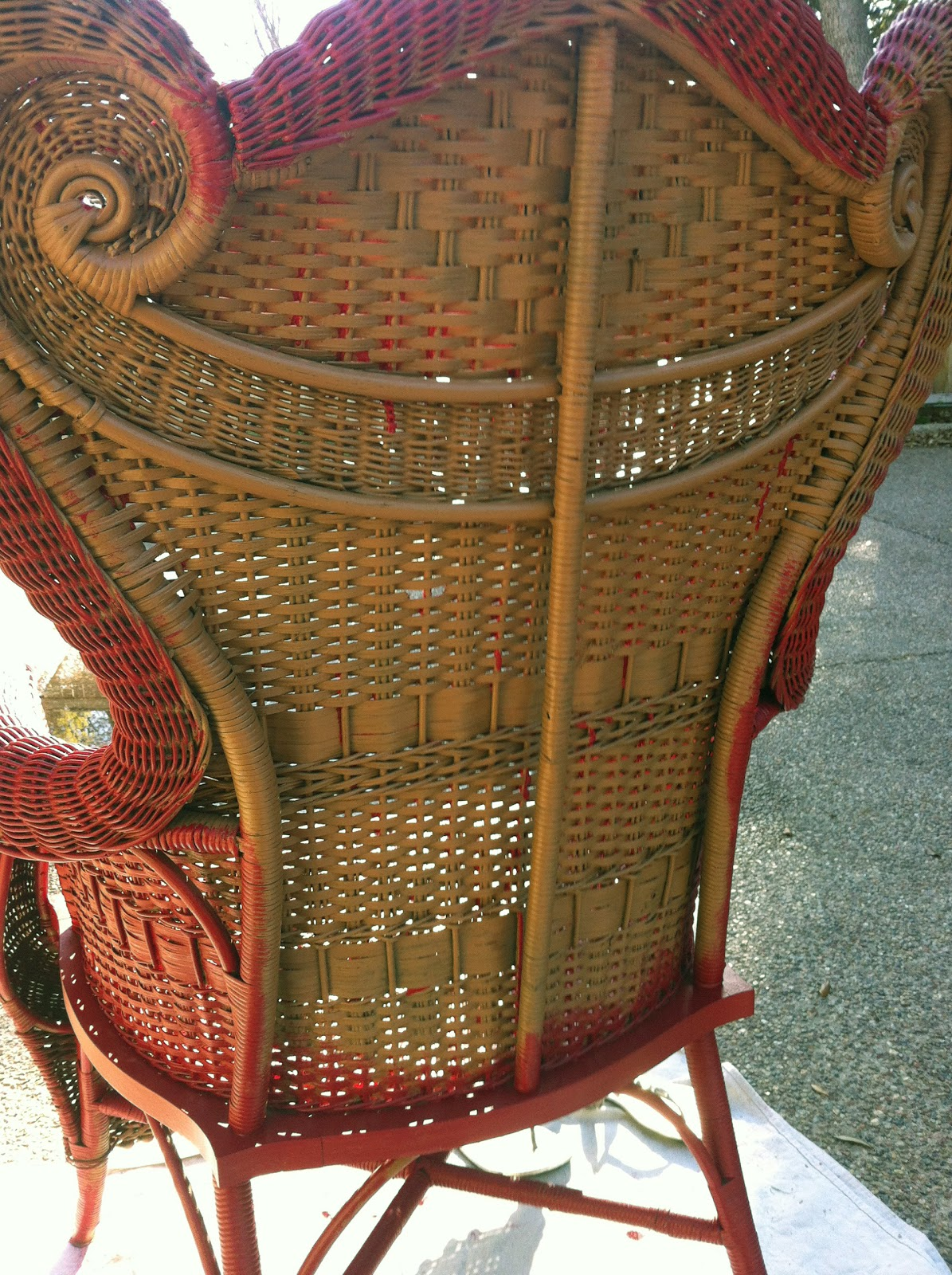 Wicker Chair Makeover The Blissful Bee