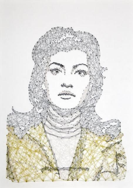 A arte com linhas coloridas de Pamela Campagna