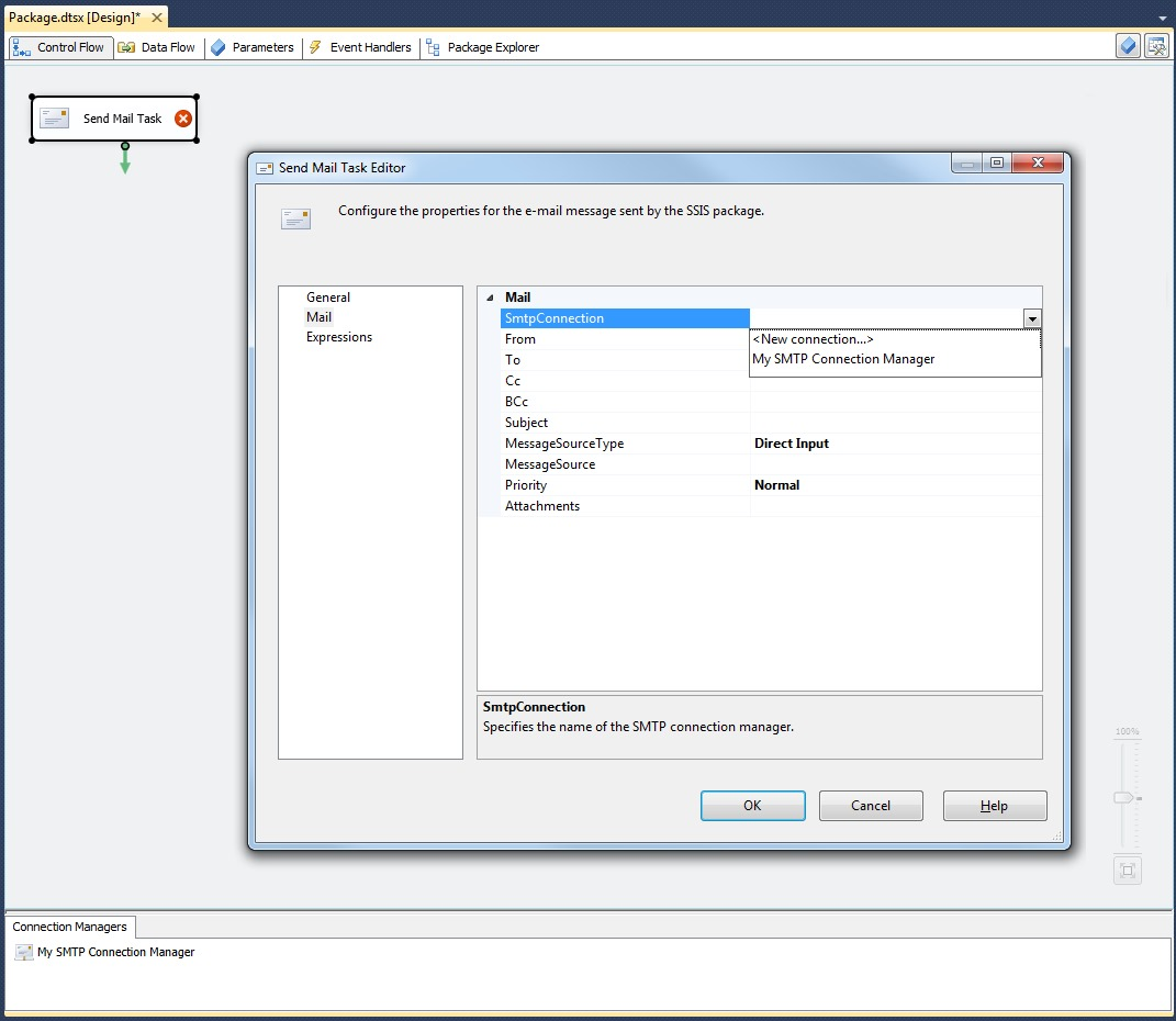 ssis how to send email