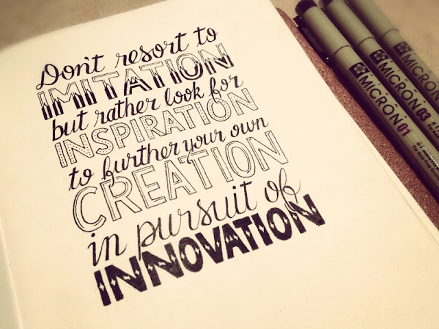 Creative inspiration quote in hand lettering