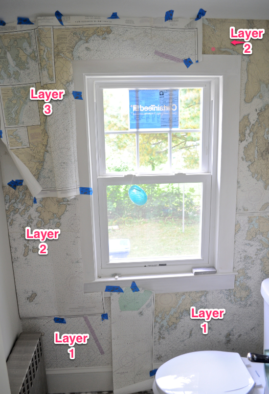 sopo cottage creative wallpaper how to hang nautical charts