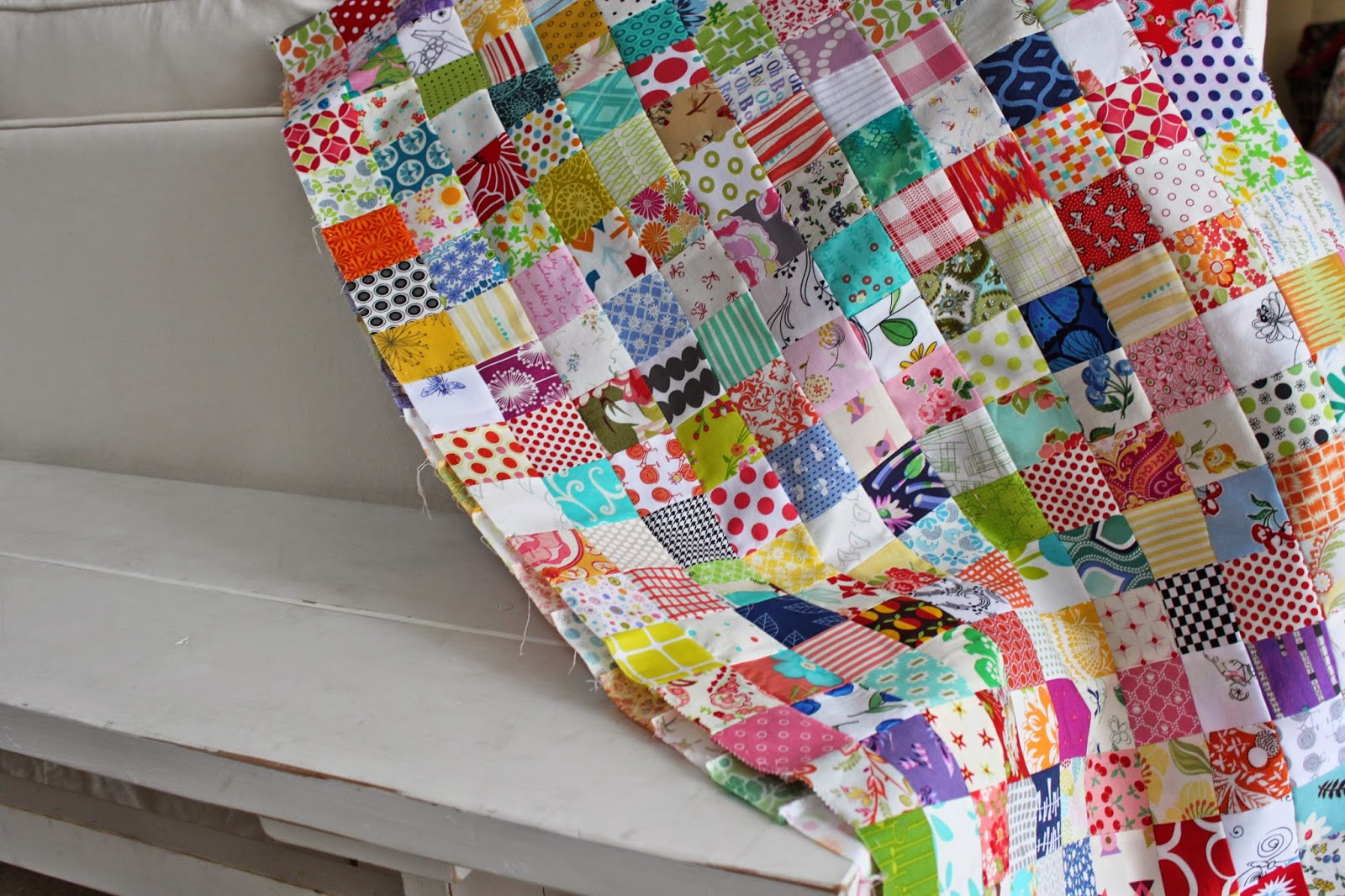Lollyquiltz: All Those Squares!