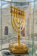 THE GOLDEN MENORAH, ONE OF ISRAEL'S GREAT TEMPLE TREASURES.