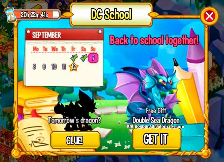 imagen del dragon mar doble de la isla escuela de dragon city mobile