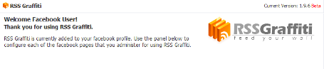 RSS GRAFFITI apps to access Facebook