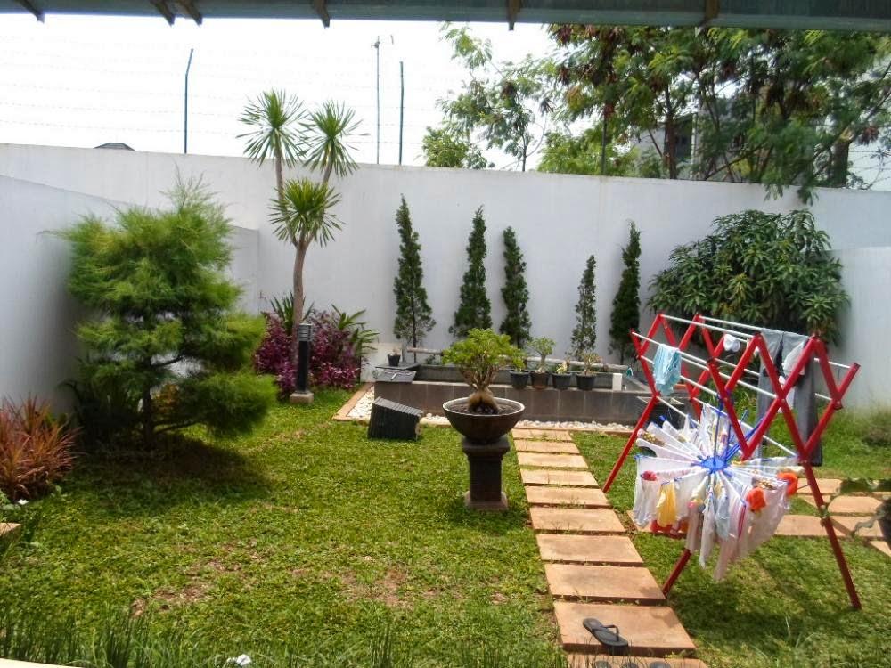taman belakang rumah asri