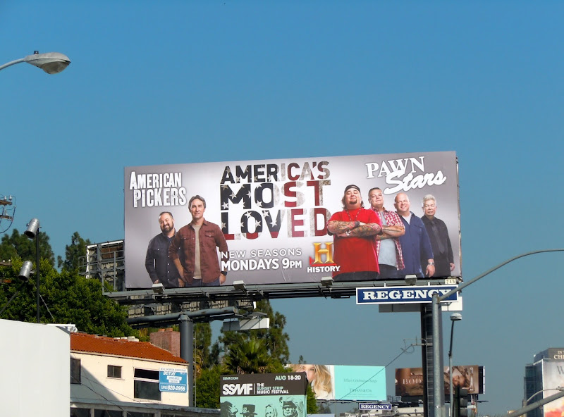 American Pickers Pawn Stars billboard
