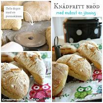 Knådfritt bröd med endast en jäsning