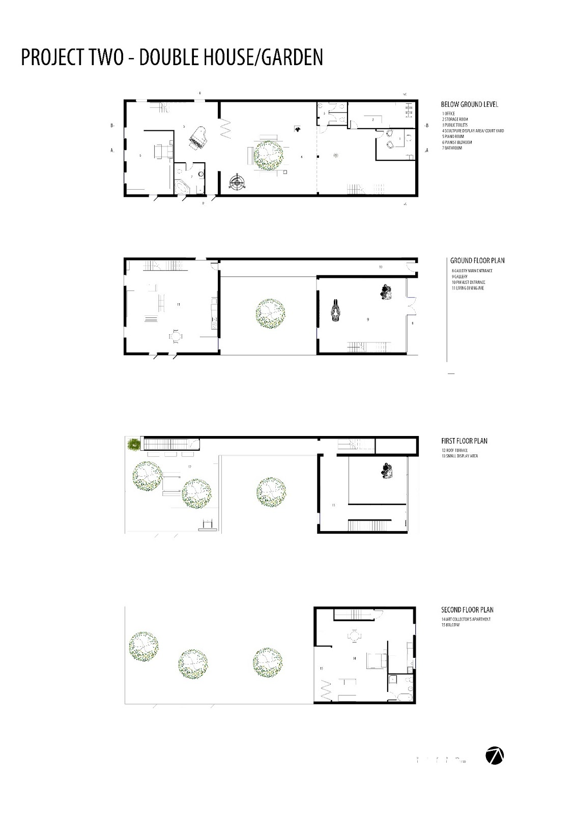 The Double House Is Divided Into 3 Equal Squares Working Together  Concurrently In A Seemingly Mirrored Approach Both Above And Below Ground,  ...