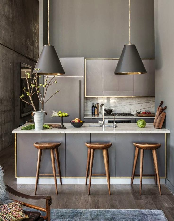 30 fotos de decoraci n de cocinas modernas peque as top 2018 for Decoracion para pared de cocina