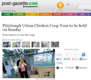 Article about Chicken Coop Tour in Pittsburgh