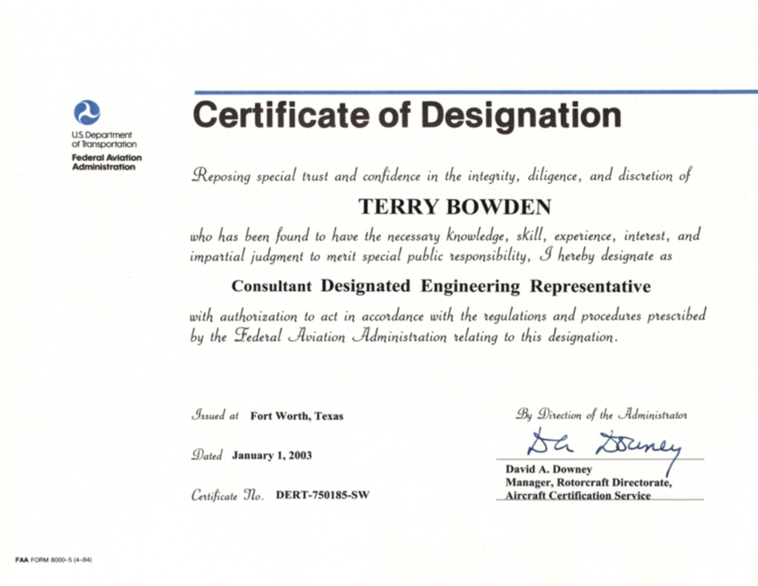terry bowden  consultant der  resume