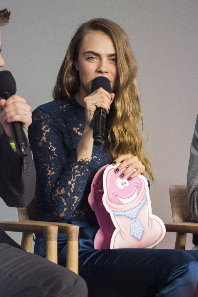 Cara Delevingne received a very original gift bag