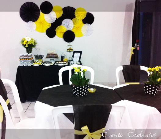 decoracao amarelo branco e preto:Nas fotos acima e abaixo, alguns detalhes do salão.