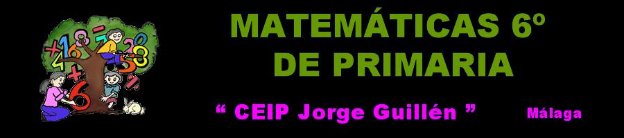 Matemáticas 6º de Primaria CEIP Jorge Guillén