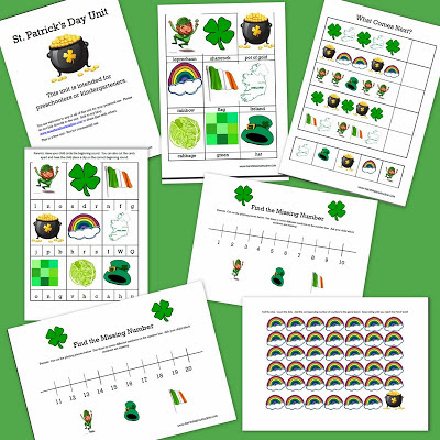 free st patrick;s day printables