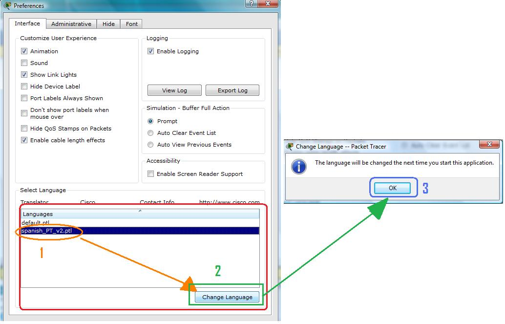 how to change the password for packet tracer switch