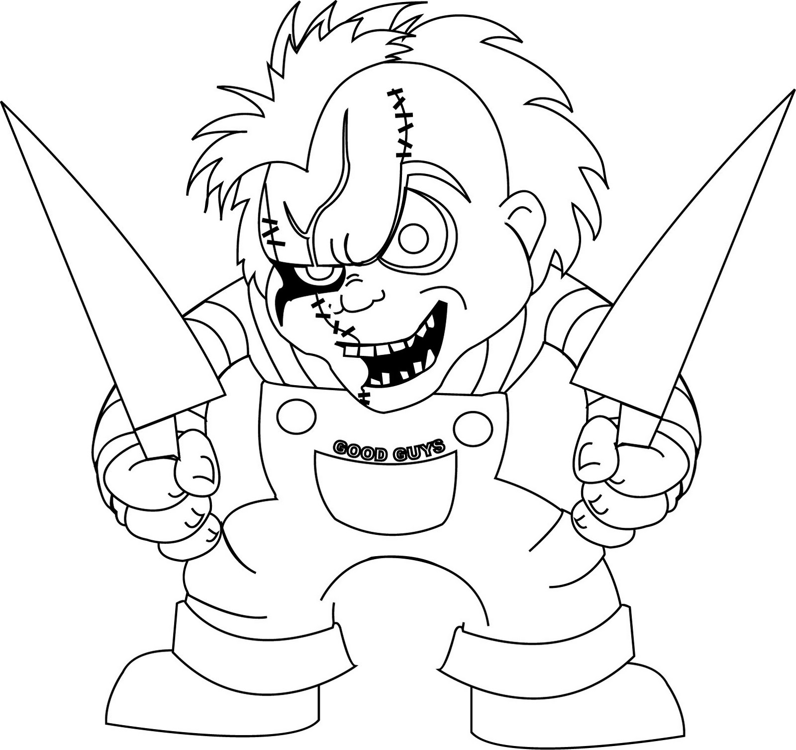 chucky doll coloring pages kidsfreecoloringnet free download kids american girl