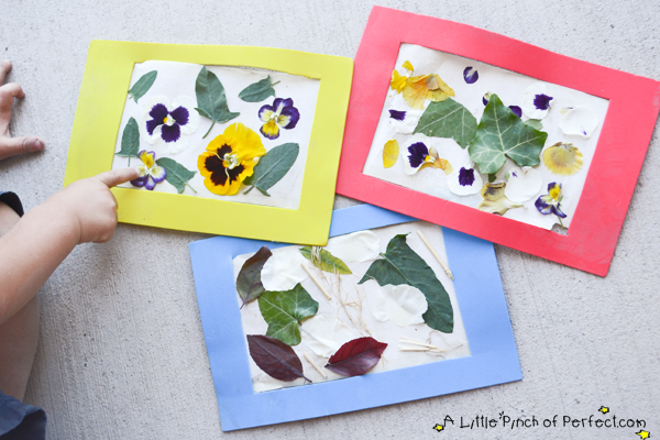 Nature art collage easy reusable craft frame for kids for Crafts made from nature