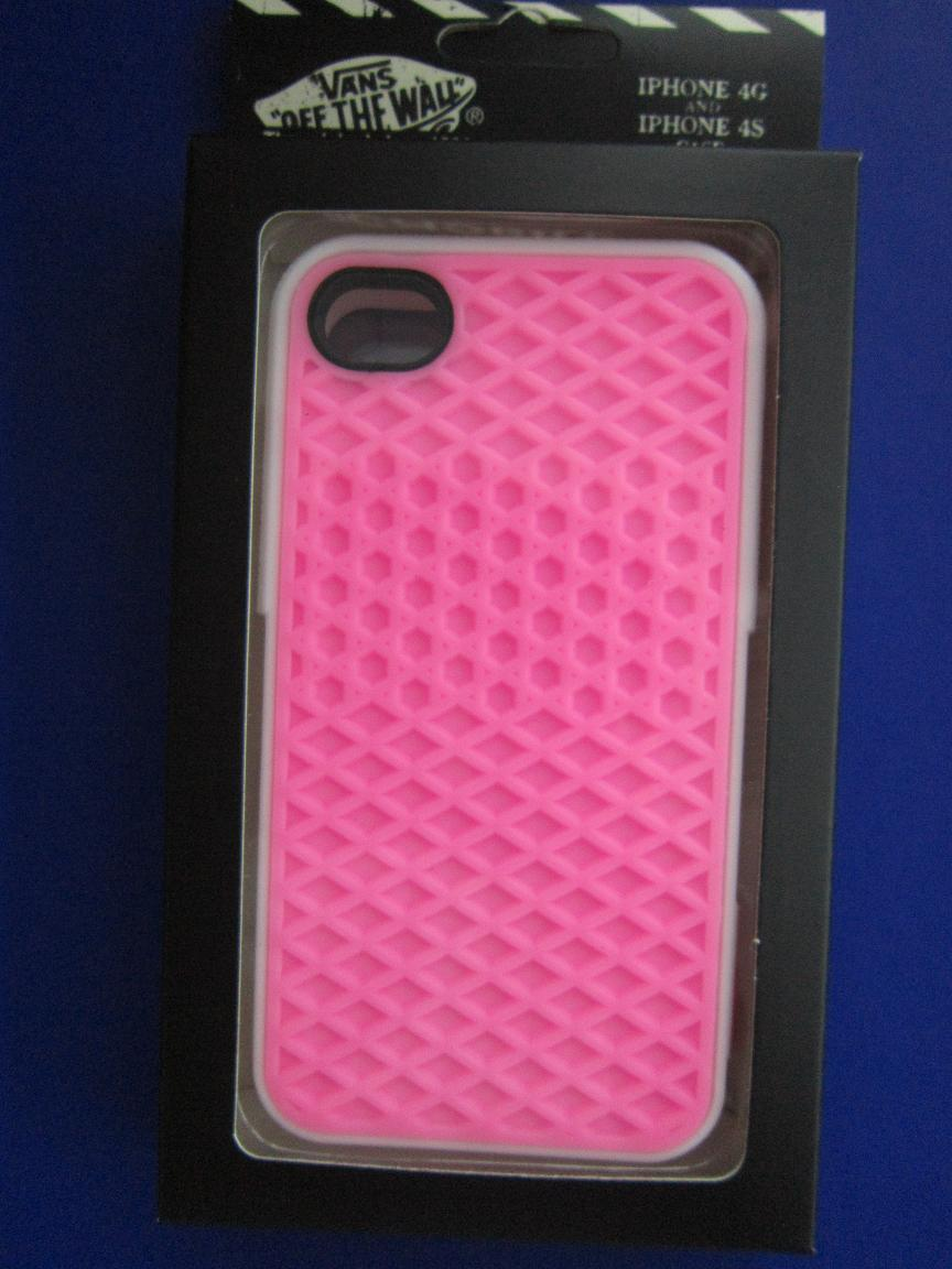 VANS(OFF THE WALL)iphone4\4S\4G CASE,LIGHT PINK COVER +WHITE RIM from OEM + GIFT