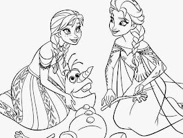 Olaf Elsa Anna Coloring Pages