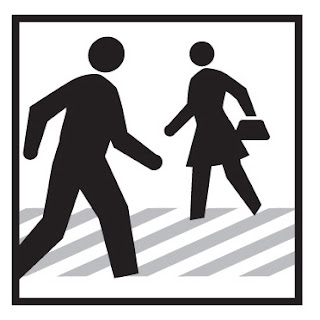 desenho de faixa de pedestre, pedestres, ilustrações