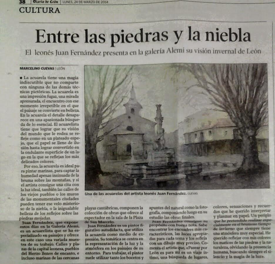 Comentario en prensa. Diario de León.