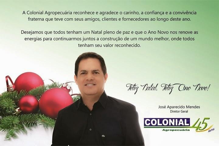 MENSAGEM DA COLONIAL AGROPECUÁRIA