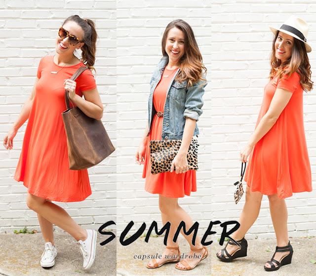 Old Navy swing dress 3 ways