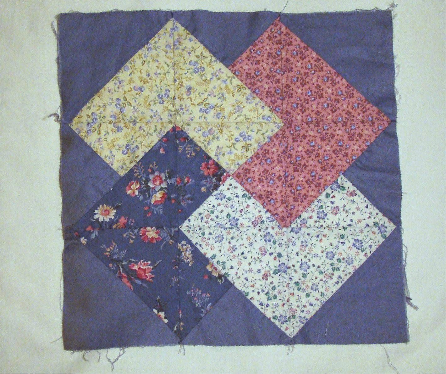 Card trick quilt block pieces are like health insurance and providers