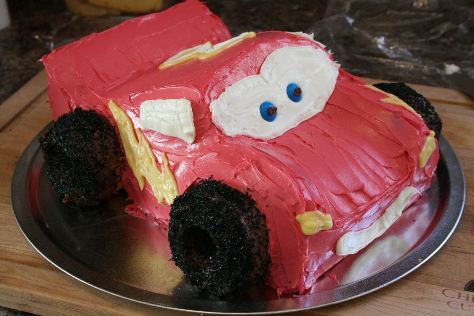 Things I Like To Make Homemade Lightning McQueen Birthday Cake