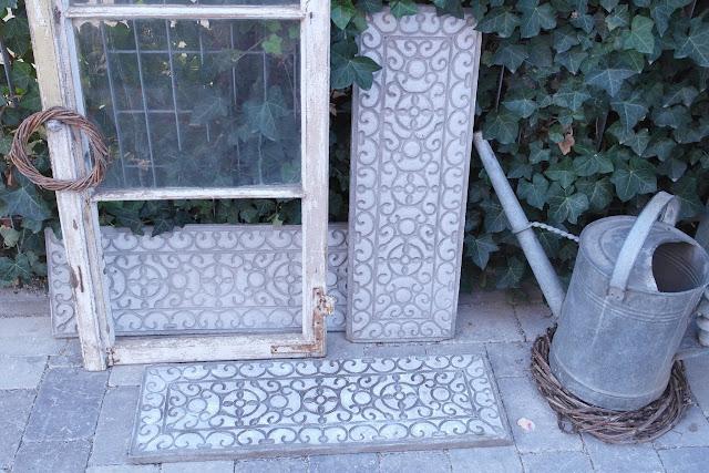 Anleitung DIY Beton Platten mit Ornament