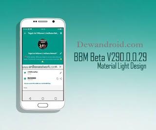 BBM MOD Tema Material Light Versi 2.9.0.0.29 Beta Terbaru