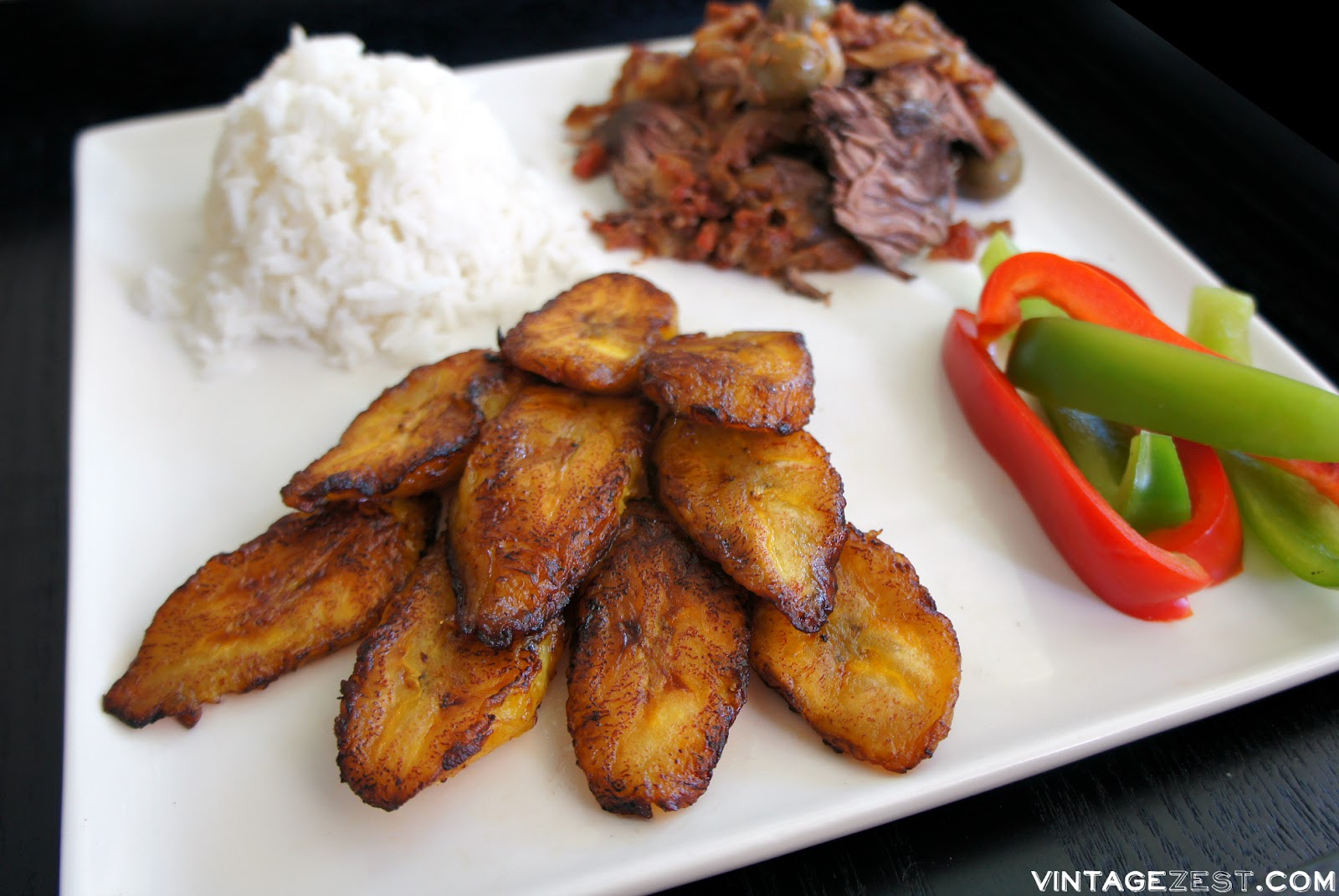 Platanos Maduros (Sweet Cuban Plantains) on Diane's Vintage Zest!  #recipe #cuban #sidedish
